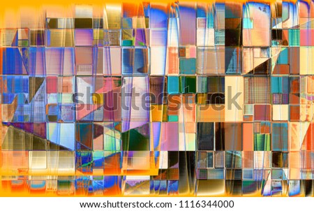 geometric multicolored abstract pattern