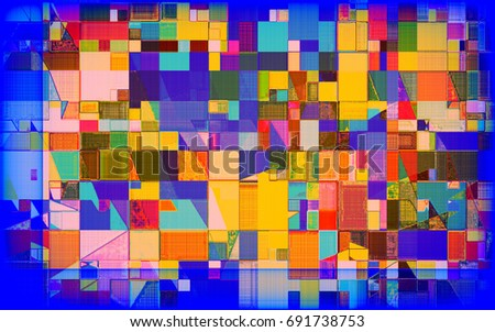 geometric multicolored abstract pattern #691738753