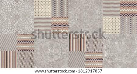 geometric pattern background, vintage textile design Foto stock ©