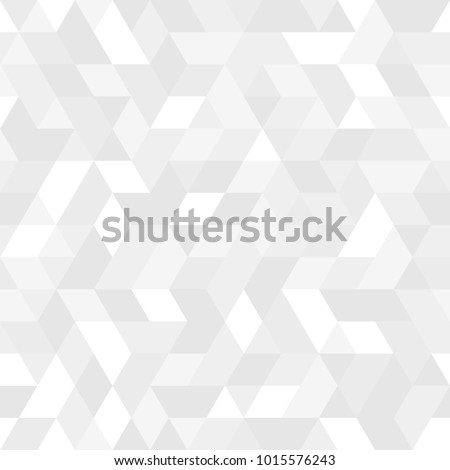 Geometric pattern with light silver triangles. Geometric modern ornament. Seamless abstract background #1015576243