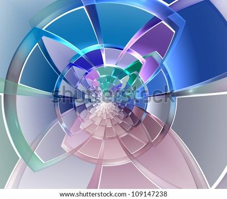 Geometric shape of colored segments