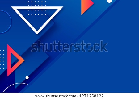geometric shapes illustration design,triangles and circles design with points,blue background with colorful geometric shapes.jpg  Сток-фото ©
