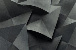 Geometric shapes of gray paper, abstract background
