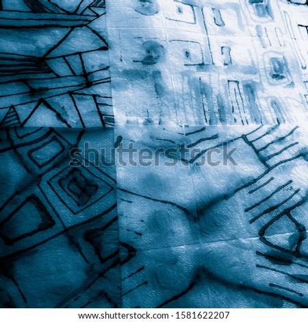 Geometric Shirt. Indigo Geometric Pattern Stripes. Yellow Fun Geometrics. Sky Illustration. Blue Urban Design. Turquoise Triangle.