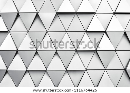 Geometric silver background with rhombus and nodes. Modern dilver background. #1116764426