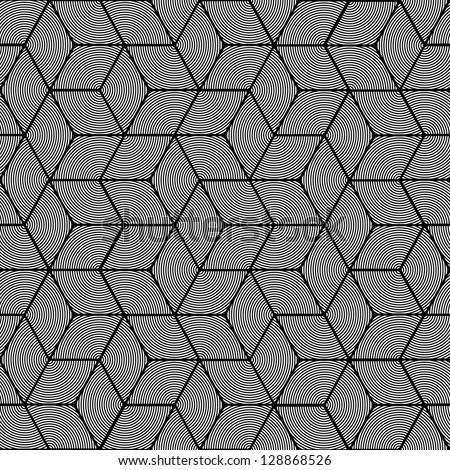 Geometric stripe pattern - seamless graphic cubes design