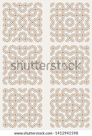 Geometric textile pattern. Background. Wallpaper. #1412941598