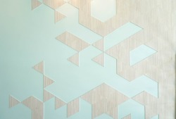 Geometric wallpaper, modern style interior of geometric wall inspired by Japanese Origami. Origami is Japanese art of paper folding.