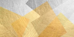 Geometric warm color background material (gold and silver)