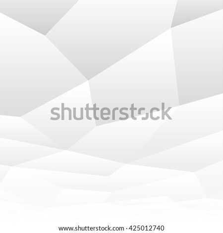 Geometric white shapes. Abstract background with perspective.  #425012740