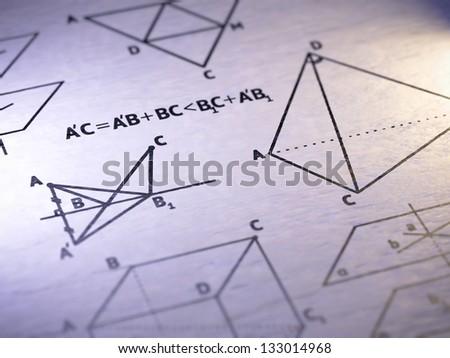 geometry - stock photo
