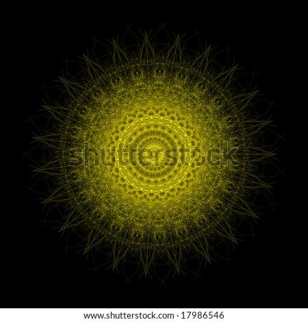 Geometry generated sun shape