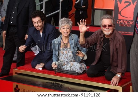 "George Chakiris, Rita Moreno and Russ Tamblyn at the ""West Side Story"" Cast Hand and Footprint Ceremony, Chinese Theater, Hollywood, CA 11-15-11"