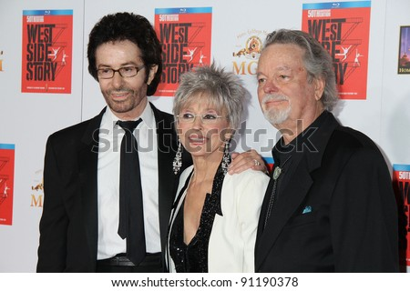 George Chakiris, Rita Moreno, Russ Tamblyn at the West Side Story 50th Anniversary Screening, Chinese Theater, Hollywood, CA 11-15-11