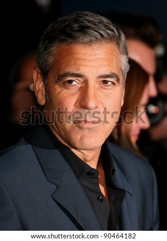 George Clooney arriving for The Ides Of March Premiere, Odeon Leicester Square, London. 19/10/2011 Picture by: Alexandra Glen / Featureflash