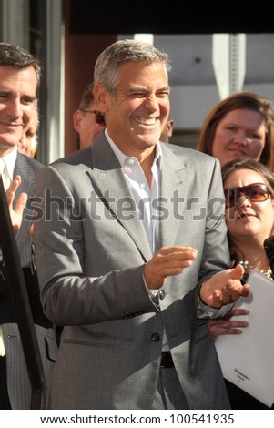 George Clooney at the John Wells Star On The Hollywood Walk Of Fame, Hollywood, CA 01-12-12