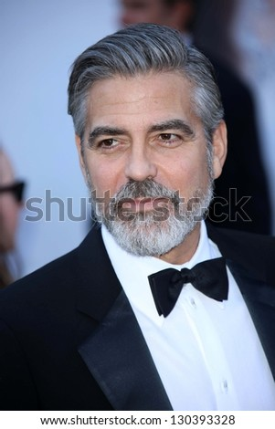 George Clooney at the 85th Annual Academy Awards Arrivals, Dolby Theater, Hollywood, CA 02-24-13
