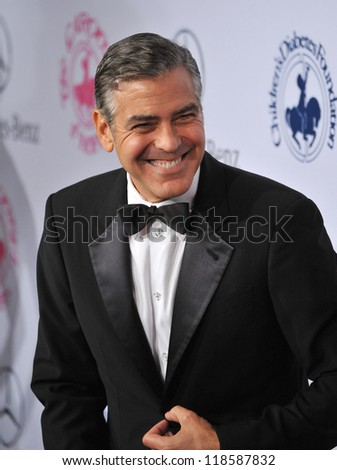 George Clooney at the 26th Carousel of Hope Gala at the Beverly Hilton Hotel. October 20, 2012  Beverly Hills, CA Picture: Paul Smith