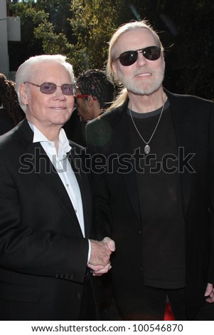 George Jones, Gregg Allman at the Recording Academy's Annual GRAMMY Special Merit Awards Ceremony,  Wilshire Ebell Theatre, Los Angeles, CA 02-11-12