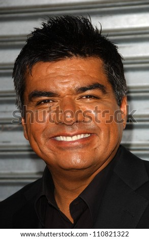 """George Lopez at the Los Angeles premiere """"Balls Of Fury"""". The Egyptian Theatre, Hollywood, CA. 08-25-07"""