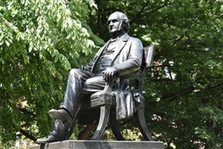 George Peabody statue in Baltimore, Maryland