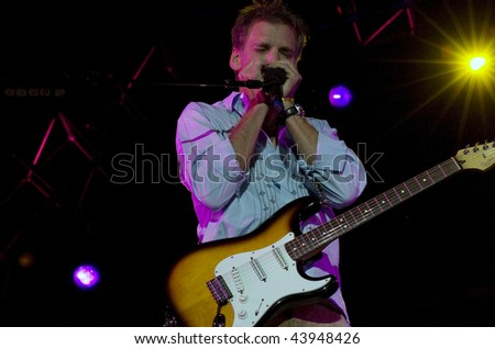 GEORGE WA - JULY 25: Singer, harmonica player and guitar player Kenny Loggins of Loggins and Messina performs on stage at The Gorge Amphitheater August 15, 2005 in George, WA.