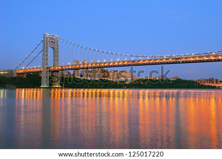 George Washington Bridge at dusk