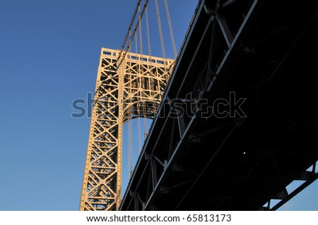 George Washington Bridge connecting New York and New Jersey
