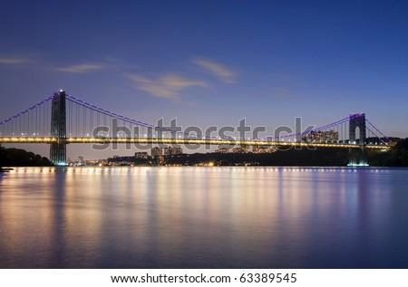 George Washington Bridge connecting New York's Manhattan and New Jersey.