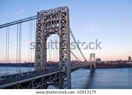 George Washington Bridge looking from below