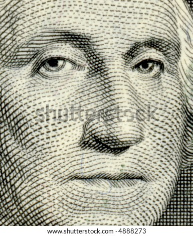 George Washington from US one dollar bill