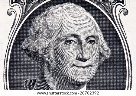 george washington dollar bill art. stock photo : George