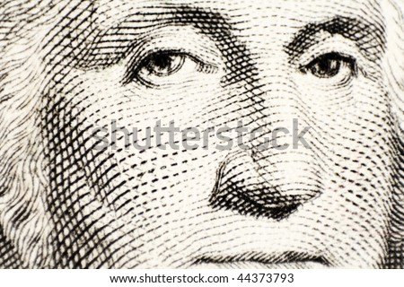 George Washington on a one dollar bank note