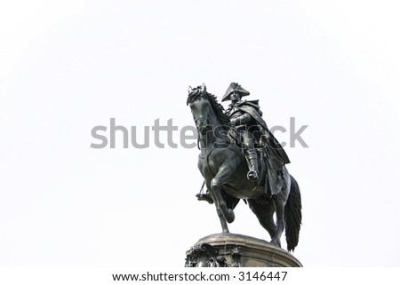 George Washington on horseback statue