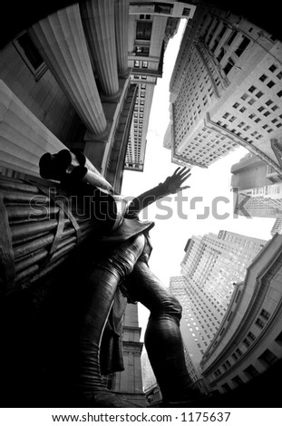 george washington statue - wall street - manhattan - new york city - usa