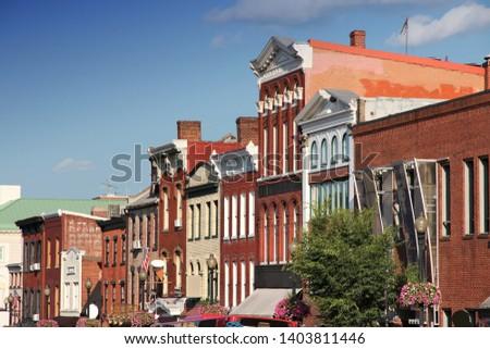 Georgetown Historic Neighborhood in Washington D.C. United States.