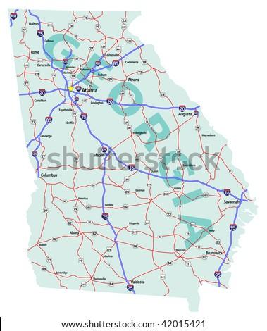 I Georgia Map Pictures To Pin On Pinterest ThePinsta - Georgia map i 75