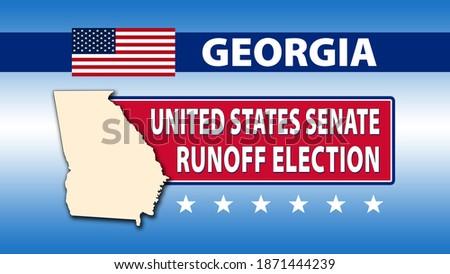 Georgia United States Senate Runoff Election with a USA flag - Illustration Foto stock ©