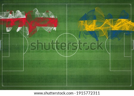 Georgia vs Sweden Soccer Match, football game, Competition concept, Copy space ストックフォト ©