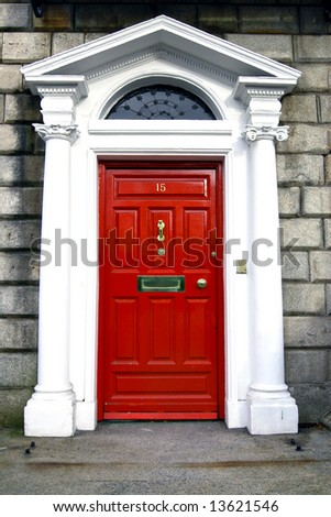 Georgian Door, Dublin Ireland. - stock photo