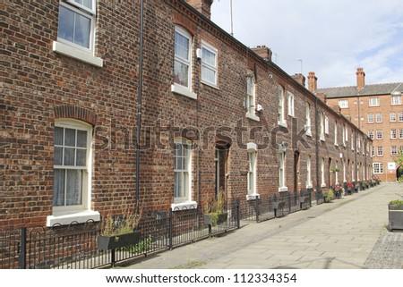 Georgian terraced street, Manchester, UK