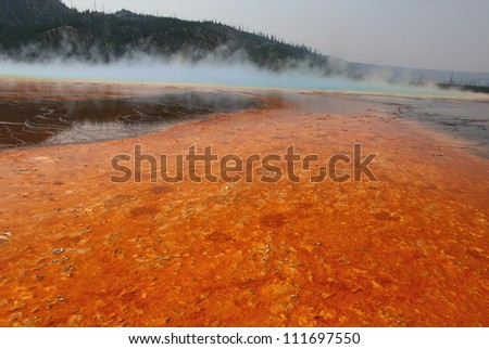 Geothermal mineral pool, Norris Basin, Yellowstone National Park, Wyoming, summer