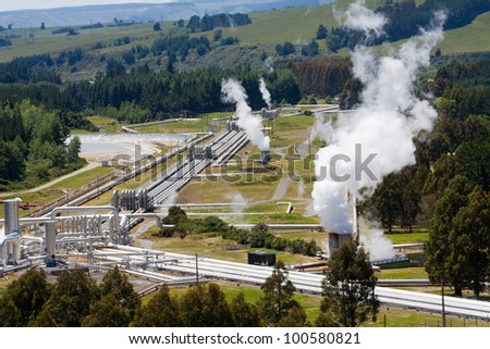 Geothermal power station alternative energy
