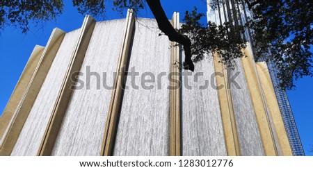 Gerald D. Hines waterwall park in Houston Stockfoto ©