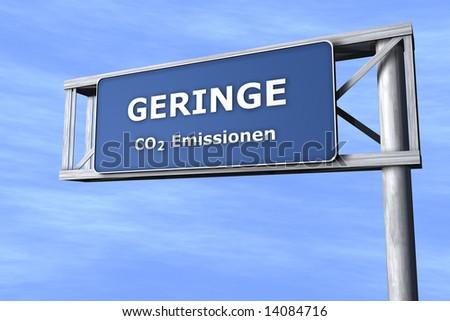 Gerine CO2 Emissionen - N�¤chste Ausfahrt