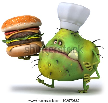 Germ chef and hamburger
