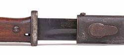 German army ww2 period bayonet (44asw), isolated on white