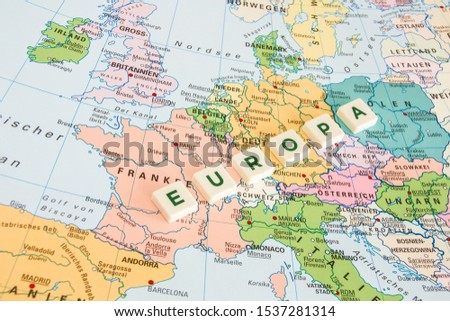 German Europe map and symbols