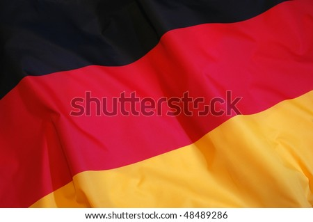 German Flag (Bundesdienstflagge) - stock photo