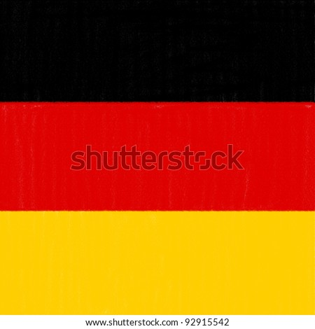 German flag drawing by pastel on charcoal paper